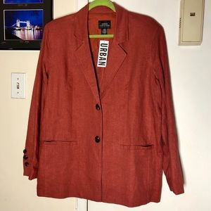 NWT Burnt Orange Blazer